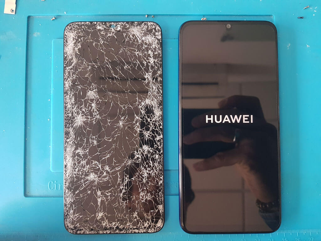 riparazione display smartphone huawei